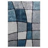 Hochflorteppich Fany Blau/Weiß 120x170cm - Blau/Grau, KONVENTIONELL, Textil (120/170cm) - Mömax modern living