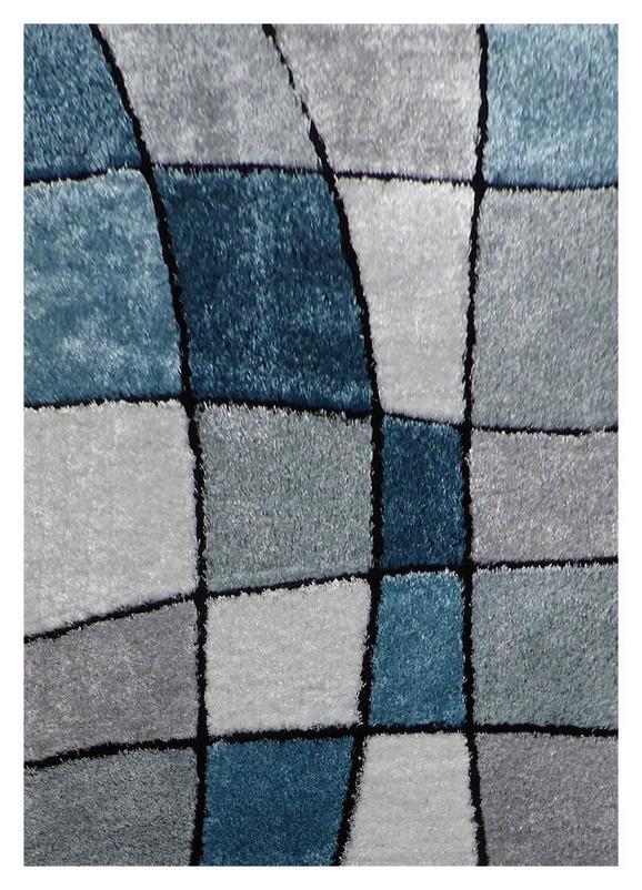 Kosmatinec Fancy 3 - modra/siva, Konvencionalno, tekstil (120/170cm) - Mömax modern living