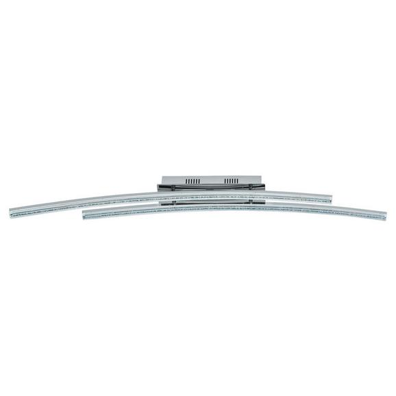 LED-Deckenleuchte max. 10,8 Watt 'Pertini' - Chromfarben/Transparent, MODERN, Kunststoff/Metall (96/8/11cm)