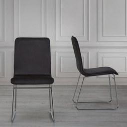 Stuhl Vinzenz - Schwarz, MODERN, Textil/Metall (46/89/53cm) - Mömax modern living