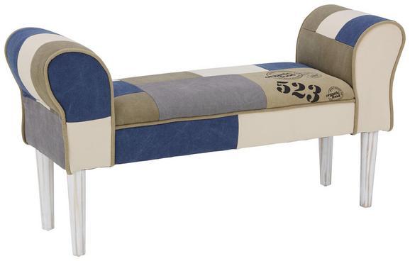 Garderobna Klop Leopold - siva/bela, Moderno, tekstil/les (103/52/31cm) - Mömax modern living