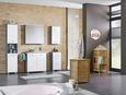 Oberschrank Weiß Hochglanz/Grau - Silberfarben/Weiß, MODERN, Holzwerkstoff/Kunststoff (40/77/23cm) - Mömax modern living