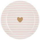 Desszertes Tányér Bibi - Arany/Rózsaszín, romantikus/Landhaus, Kerámia (20,32cm) - Mömax modern living