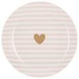 Desszertes Tányér Bibi - rózsaszín/arany színű, romantikus/Landhaus, kerámia (20,32cm) - Mömax modern living