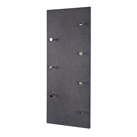 Stenski Obešalnik Big Eddy Granit - antracit, leseni material (80/30/5,5cm)