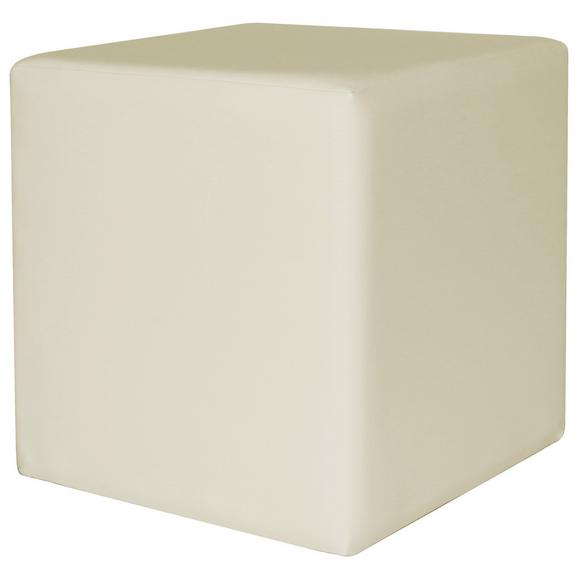 Taburet Colorfull Cube - crem, Modern, textil (40/40/42cm) - Modern Living