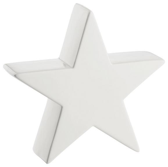 Dekor Csillag Luise - Fehér, Kerámia (19.3/19/6.1cm) - Mömax modern living