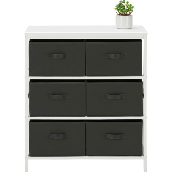 kommode in wei anthrazit aus kiefer online kaufen m max. Black Bedroom Furniture Sets. Home Design Ideas