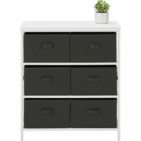 kommode in wei anthrazit aus kiefer online kaufen m max. Black Bedroom Furniture Sets. Home Design Ideas