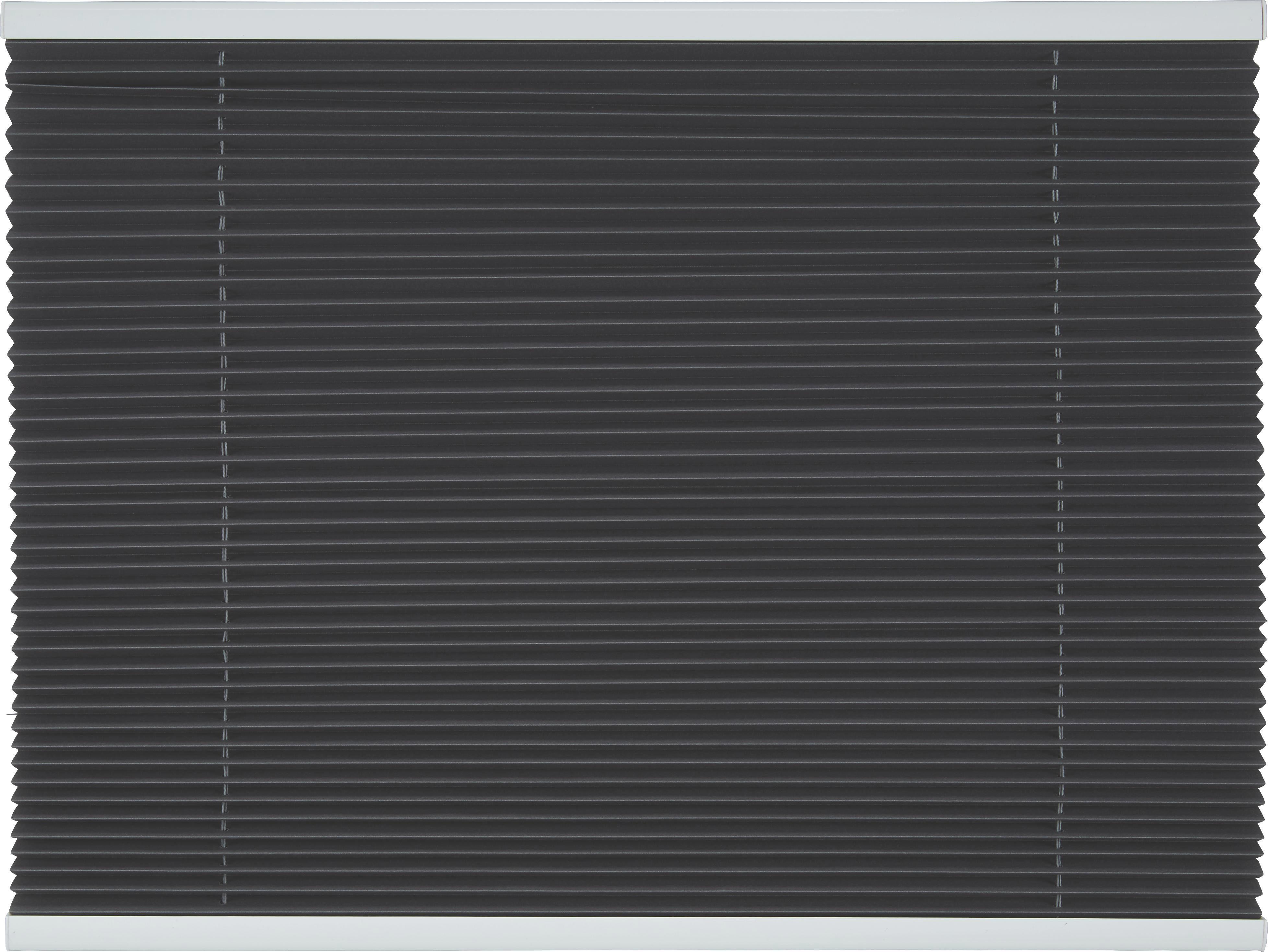 Plissee Free Verspannt, ca. 60x130cm - Anthrazit, Textil (60/130cm) - MÖMAX modern living