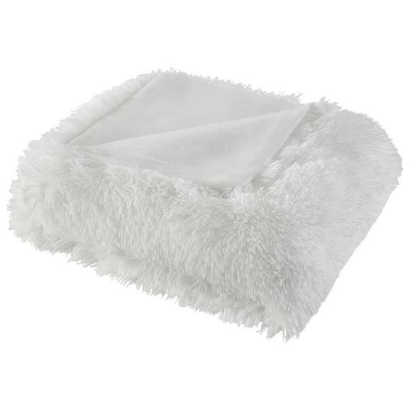 Decke Marle mit Wendeseite ca.150x200cm weiß - Weiß, MODERN, Textil (150/200cm) - Mömax modern living