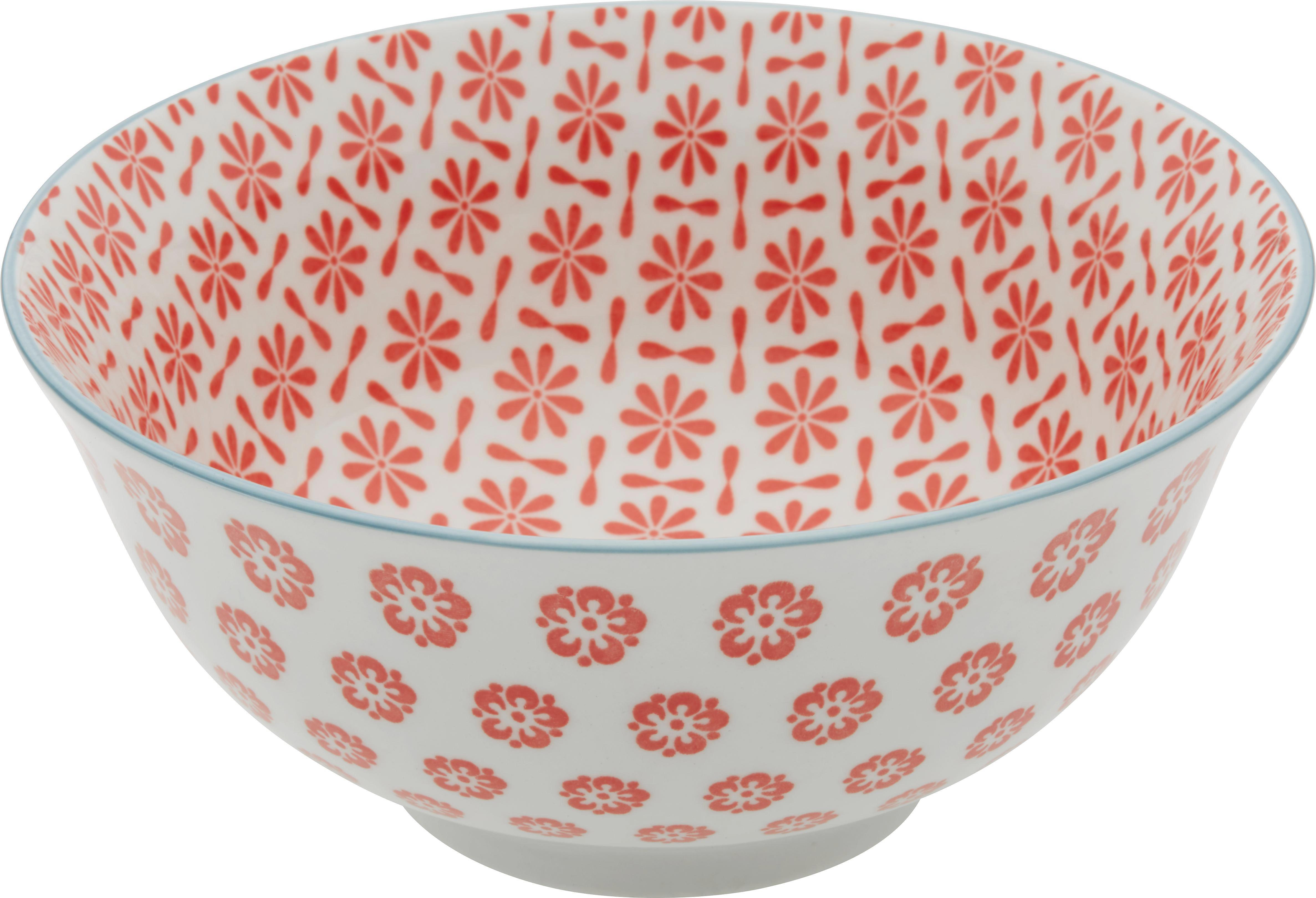 Salatschüssel Shakti aus Porzellan - Multicolor, LIFESTYLE, Keramik (15,5/7cm) - MÖMAX modern living