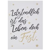 Postkarte Ist das Leben - Goldfarben/Schwarz, MODERN, Papier (10,5/14,8cm)