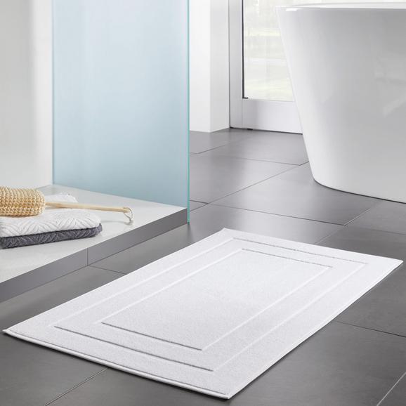 Badematte Dolly 50x80cm - Weiß, MODERN, Textil (50/80cm) - Modern Living