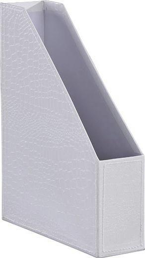 Aktenhalter Krokodilllederoptik - Weiß, LIFESTYLE, Karton (29/23,5/6,8cm) - MÖMAX modern living