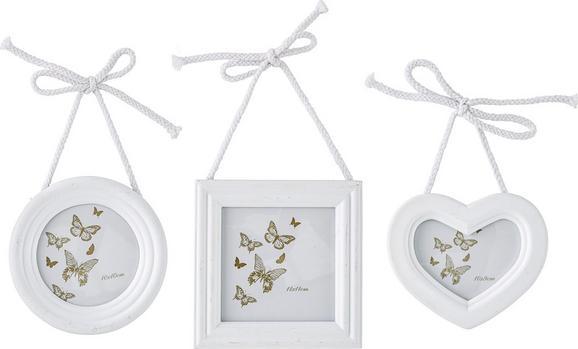 Képkeret Sweety - Fehér, romantikus/Landhaus, Faalapú anyag (15/15/2cm) - Mömax modern living