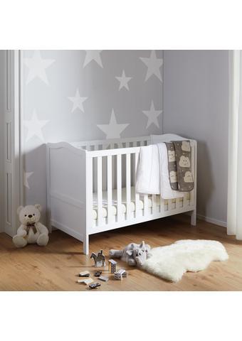 Babybett Lilo mit Abnehmbarem Gitter - Weiß, MODERN, Holz (145/100/80cm) - Modern Living