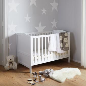 Gitterbett Lilo - Weiß, MODERN, Holzwerkstoff (145/100/80cm) - Modern Living