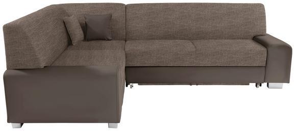 Sedežna Garnitura Miami - odtenki umazano rjave/rjava, Moderno, umetna masa/tekstil (210/260cm) - MÖMAX modern living