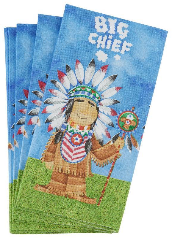 Robček Big Chief - večbarvno, Moderno, papir (34/10/33cm)