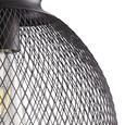 Hängeleuchte max. 42 Watt 'Kiara' - Schwarz, MODERN, Metall (32/130cm) - Bessagi Home