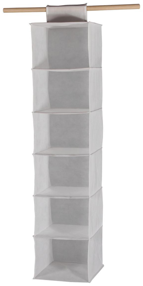 Felakasztható Tároló Cliff 2 - fehér, modern, textil (30,5/127/30cm)