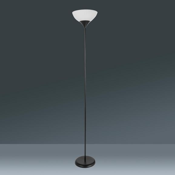Állólámpa Vanessa - Fehér/Fekete, konvencionális, Műanyag/Fém (28/175cm) - Mömax modern living