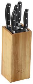 Messerblock Rösle 6-teilig - Silberfarben/Schwarz, KONVENTIONELL, Holz/Kunststoff - MÖMAX modern living