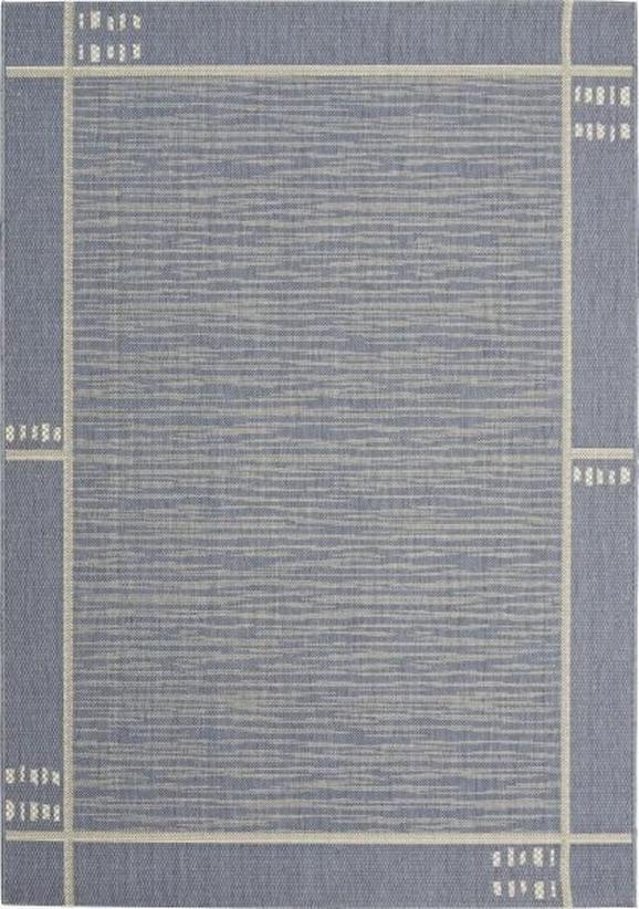 Flachwebeteppich Emil in Blau, ca. 200x250cm - Blau, KONVENTIONELL, Textil (200/250cm) - MÖMAX modern living