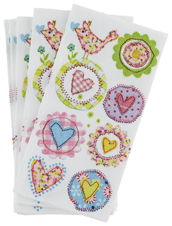 Robček Lovely Hearts - roza/modra, Romantika, papir (34/10/33cm)