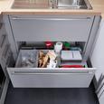 Einbauküche Touch in Steingrau NB - Alufarben/Grau, MODERN, Holzwerkstoff (270/177,5cm)