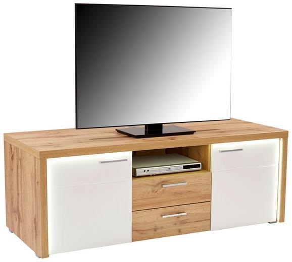Tv Element Eleganza - bijela/boje hrasta, MODERN, drvni materijal/plastika (160,5/54/49,5cm)