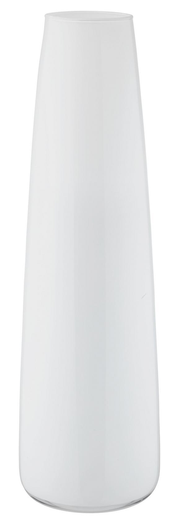 Vaza Jenny - črna/bela, steklo (70cm) - Mömax modern living