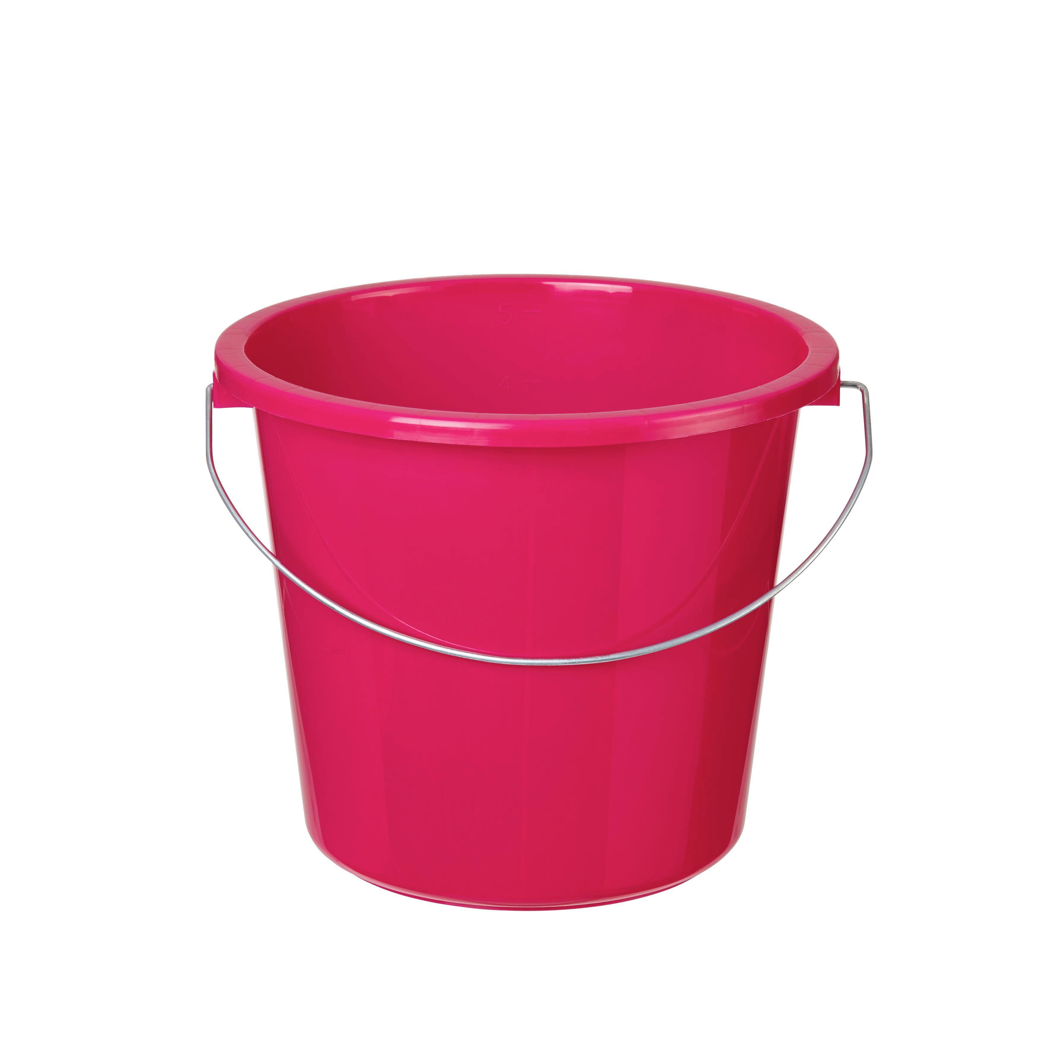 Vödör Rosi - pink/narancs, műanyag/fém (23,2/20cm) - BASED