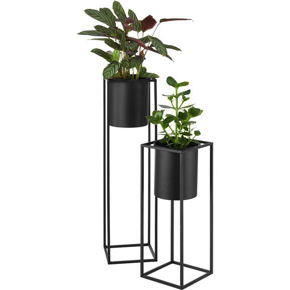Cvetlični Lonček Kiara - črna, Trendi, kovina (20,8/55,5cm) - Mömax modern living