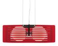 Hängeleuchte Lexi - Rot, MODERN, Glas/Metall (48/24/20cm) - Premium Living