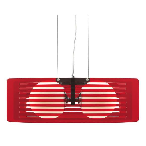 Hängeleuchte max. 60 Watt 'Lexi' - Rot, MODERN, Glas/Metall (48/24/20cm) - Bessagi Home