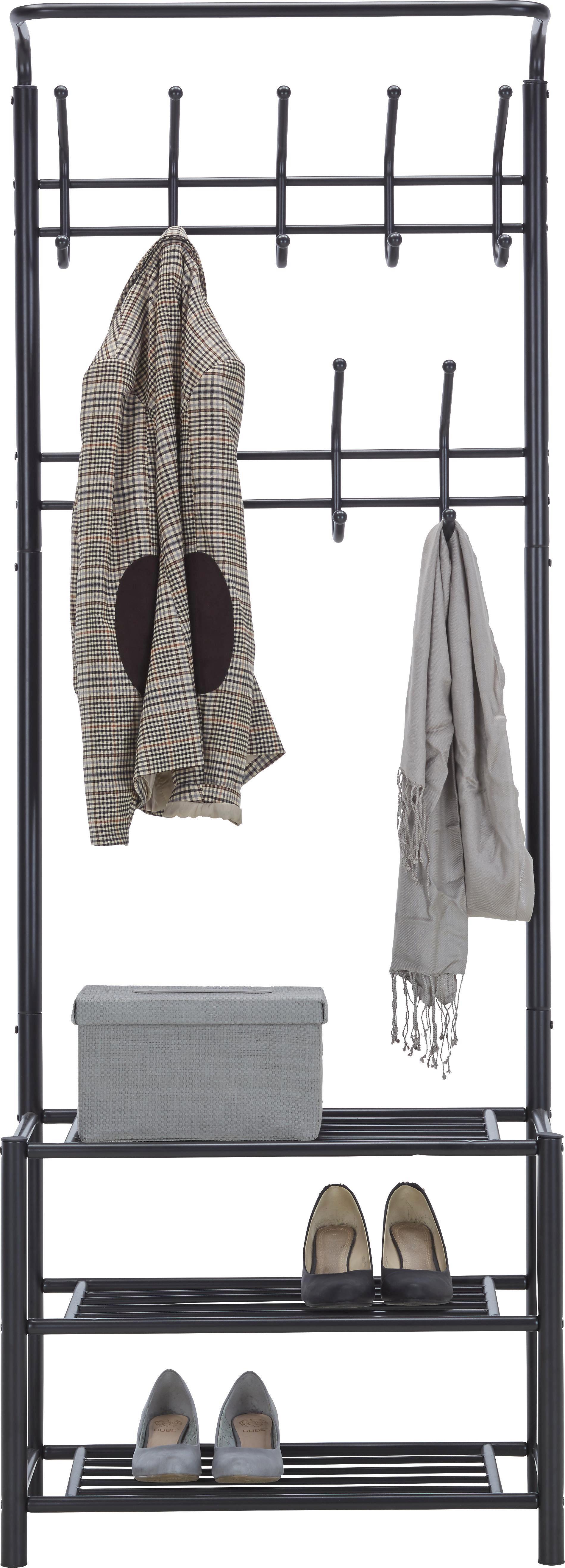 Garderobenständer in Schwarz - Schwarz, MODERN, Metall (67/185/32cm) - MÖMAX modern living