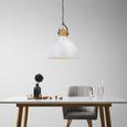 Pendelleuchte Harvey - Weiß, MODERN, Metall (40/40/120cm) - Bessagi Home