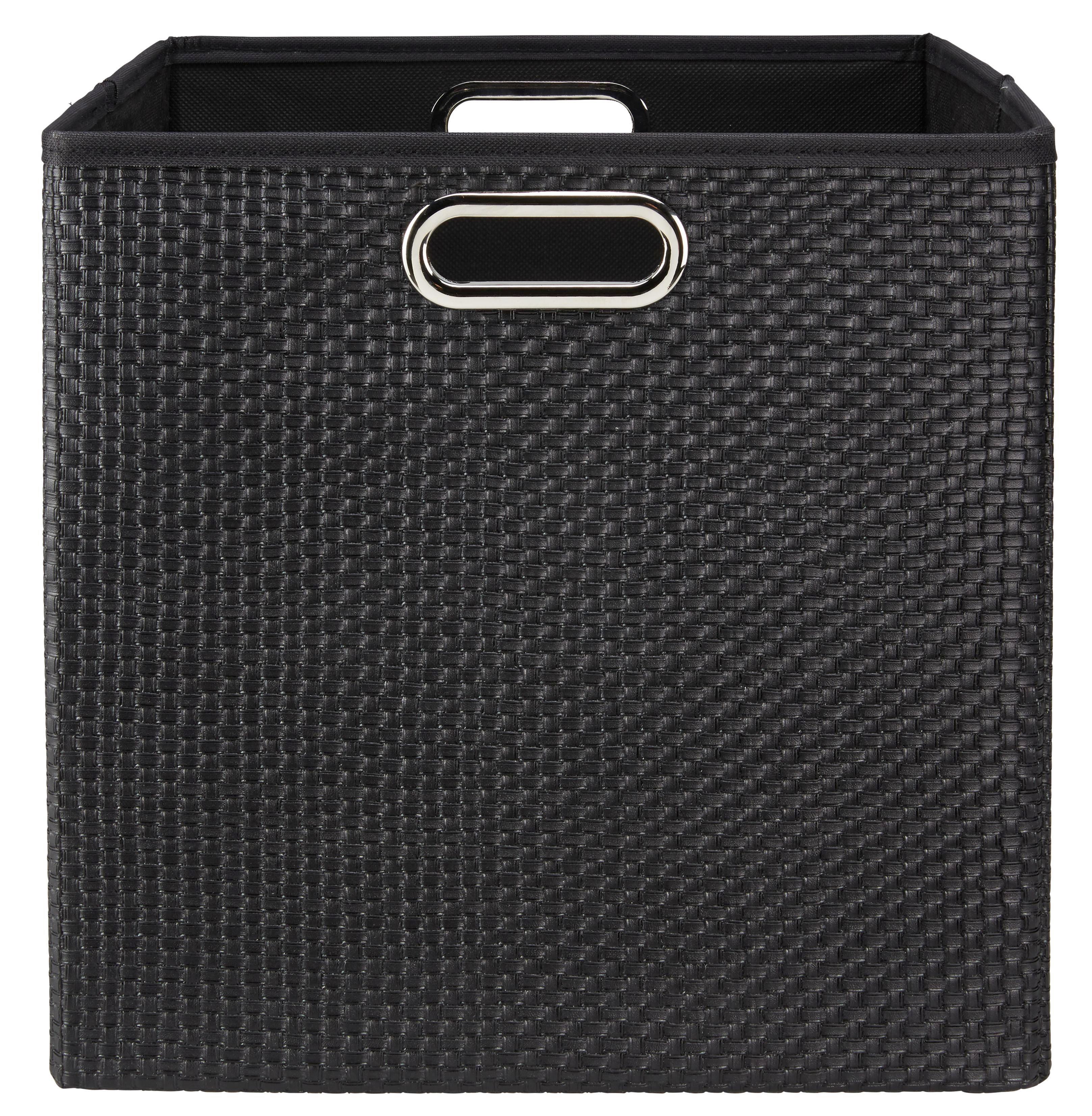 Tárolódoboz Larry - fekete, műanyag/fém (33/32/33cm) - MÖMAX modern living