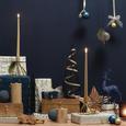 Teelichthalter Amanda verschiedene Farben - Blau/Gelb, Glas (8,5/8,5/13,10cm) - Mömax modern living