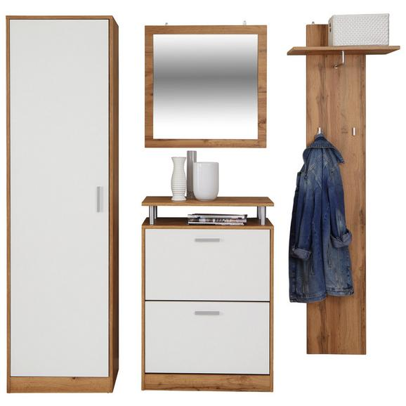 Predsoba Pop - bela/hrast, Moderno, leseni material (179l) - Mömax modern living