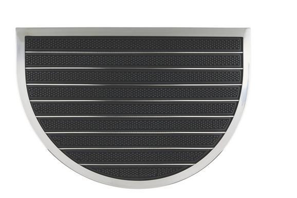 Fußmatte Miguel in Schwarz, ca. 40x60cm - Schwarz, MODERN, Kunststoff/Metall (40/60cm) - MÖMAX modern living