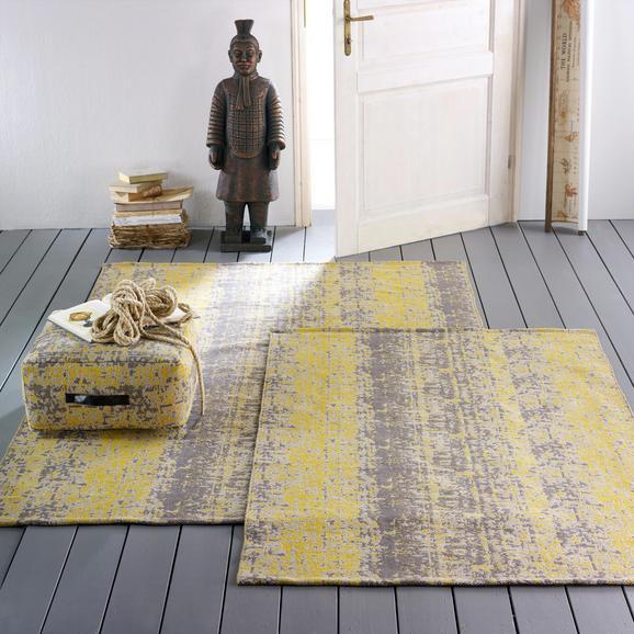 Teppich Textured Trio ca.160x230cm - Gelb/Grau, KONVENTIONELL, Textil (160/230cm) - Bessagi Home