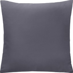 Kissen in Grau 'Diane' ca. 50x50cm - Grau, KONVENTIONELL, Textil (50/50cm) - Bessagi Home