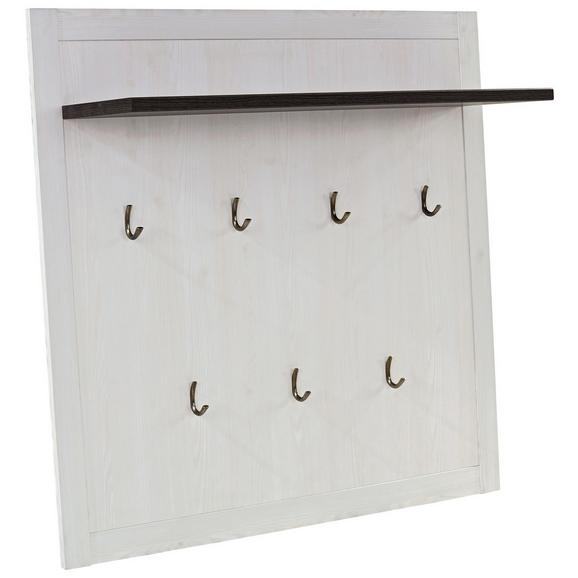 Garderobni Panel Provence - wenge/bela, Moderno, leseni material (115/104/28cm) - Zandiara