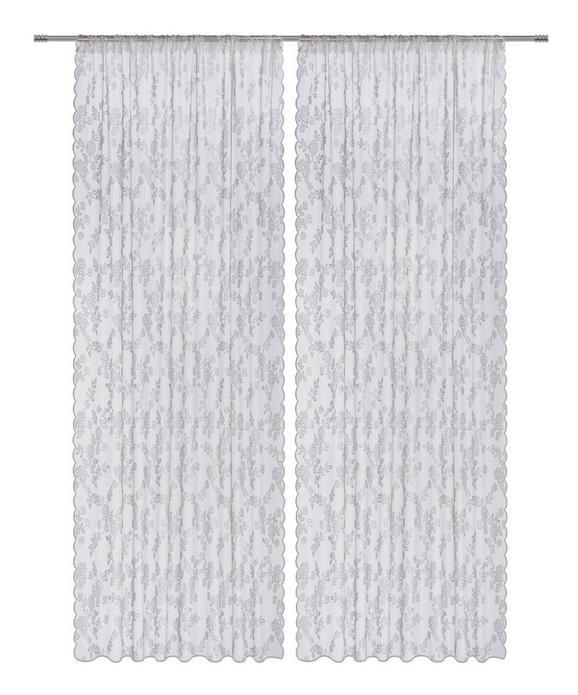 Készfüggöny Babette - Fehér, romantikus/Landhaus, Textil (140/245cm) - Mömax modern living