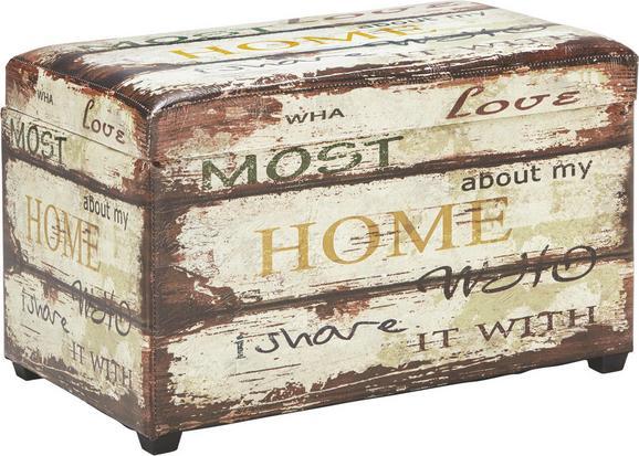 Sitzbox Home - Multicolor, LIFESTYLE, Holz/Kunststoff (65/42/40cm) - MÖMAX modern living