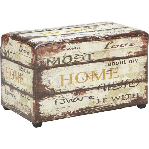 Sitzbox in Bunt - Multicolor, LIFESTYLE, Holz/Kunststoff (65/42/40cm) - Mömax modern living