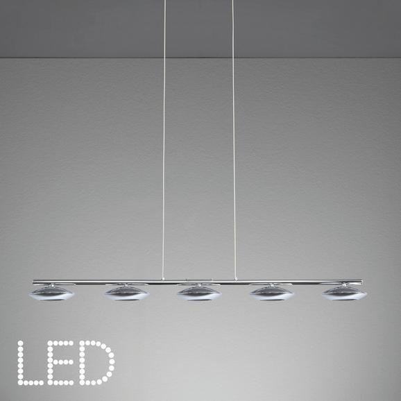 Pendelleuchte Leonita mit Led 5-flammig - Chromfarben, MODERN, Metall (90/11,5/120cm) - Mömax modern living